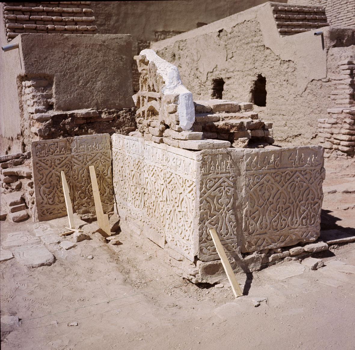 Ghazni (Afghanistan), restauro conservativo nella corte del palazzo di Mas'ud