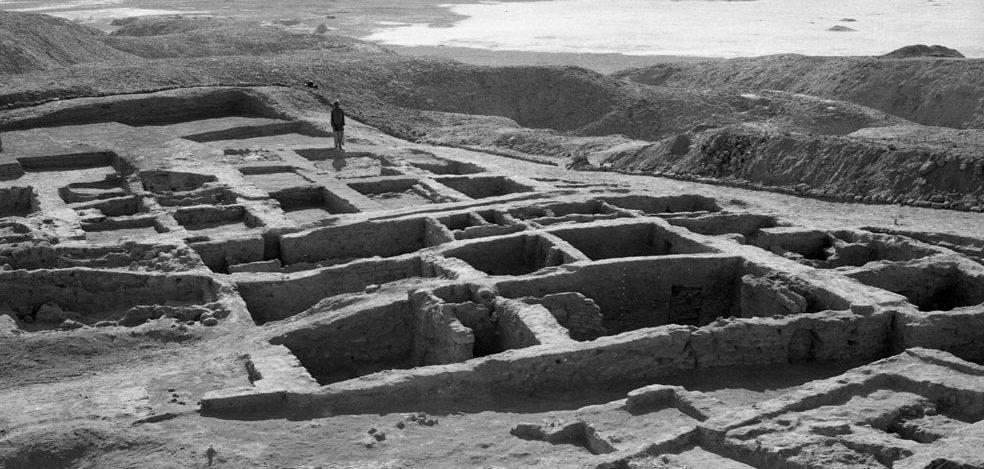 Shahr-e Sukhte, veduta generale dello scavo