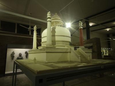 Il modello 1:20 dello stupa di Saidu Sharif I (modello realizzato da F. Martore).