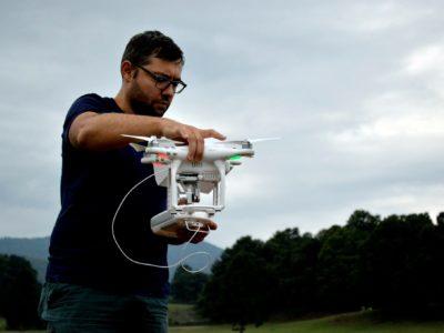 Fig. 8.  Il drone utilizzato per le attività di ricognizione e scavo.