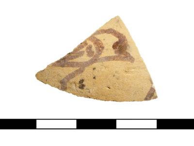 Abu Erteila (Sudan), Ricognizioni di superficie alle propaggini occidentali della concessione, Frammento ceramico (foto Baldi).