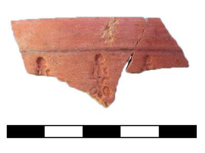 Abu Erteila (Sudan), Kom II, Tempio K 1000, Naos, Frammento ceramico (foto Fantusati).