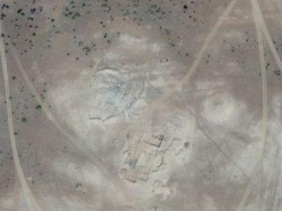 Abu Erteila (Sudan), I sondaggi effettuati visti dal satellite, stato 2013 (foto da Google Earth).