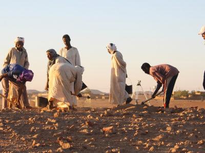 Abu Erteila (Sudan), Attività di scavo (foto Fantusati).