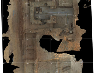 Abu Erteila (Sudan), Kom II, Tempio K 1000, Nucleo originario, Vista dall'alto (foto Lebedev).