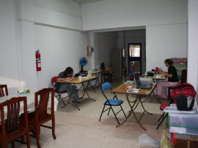 La nostra casa-laboratorio a Lopburi durante la stagione di scavo 2008.