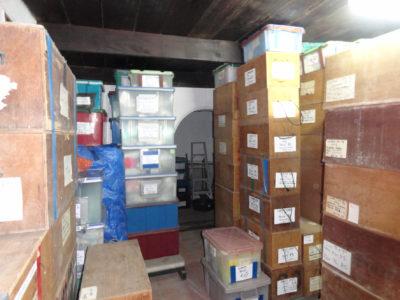Il nostro magazzino dei reperti e materiali di scavo nel Museo Nazionale del Palazzo di Re Narai