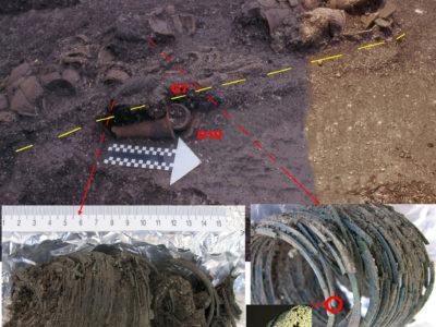 Fig. 6 NT3: bracciali a cerchi di bronzo dalla Tomba 7 della media Età del ferro (ca. 200 a.C.- 200 d.C.)