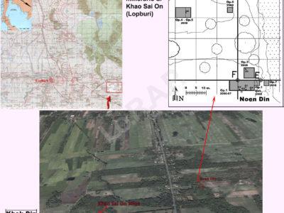 Fig. 2. Il distretto archeologico-minerarion di Khao Sai On con la localizzazione dei due siti (Khok Din e Noen Din) oggetto delle indagini del LoRAP