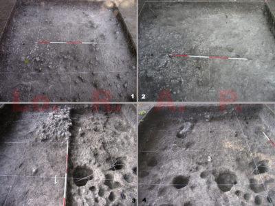 Fig. 6. KSO-Noen Din Operation 2, margine Nord-ovest dello strato di discariche domestiche/industriali: fasi di scavo.