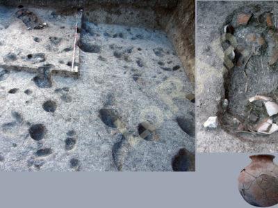 Fig. 8. KSO-Noen Din Operation 3: sepoltura di infante (G5), forse associata a una struttura abitativa (ca. sec. II a.C.-II d.C.).