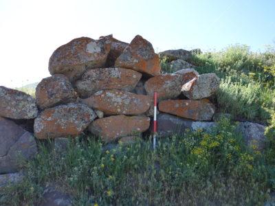 Fig. 11. Un muro di fortificazione presso la fortezza di Landjar (VDP 001).