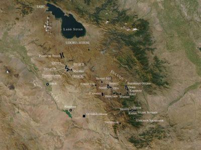 Fig. 3. I siti Urartei in Armenia meridionale (Dan 2012).