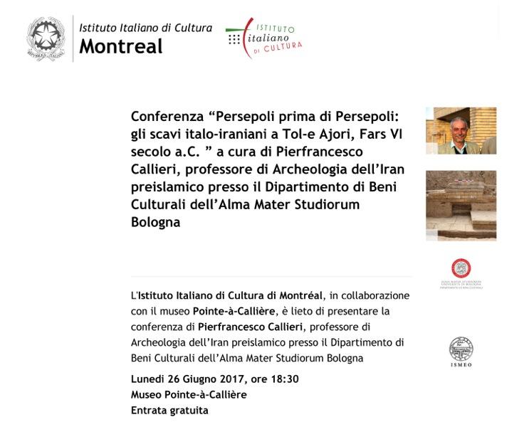 "Conferenza ""Persepoli prima di Persepol.."