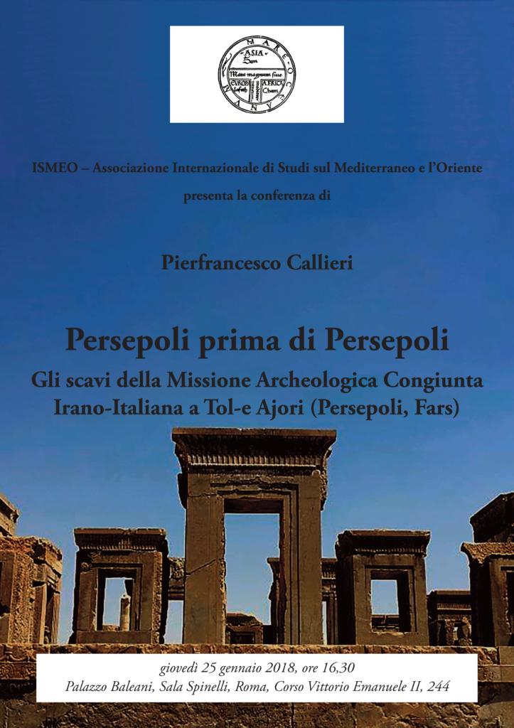 Locandina conferenza Callieri 25 gennaio 2018