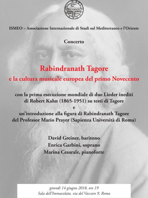 Locandina Concerto Tagore