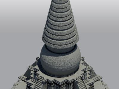 Stupa 7, preliminary reconstruction (Carlotta Passaro 2014)
