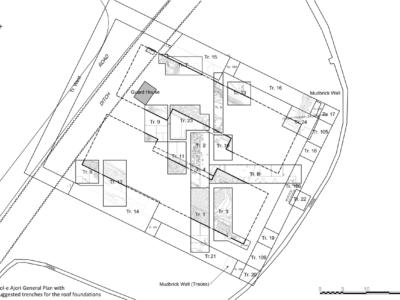 Pianta del sito proto-achemenide di Tol-e Ajori / Plan of the Early Achaemenid site of Tol-e Ajori.