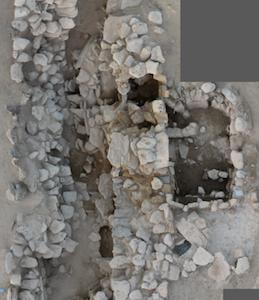 Fotogrammetria della seconda tomba collettiva LCG-2 ancora in corso di scavo  - Photogrammetry of LCG-2 ongoing of excavation