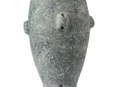 Vaso in clorite con prese forate di sospensione – Softstone suspended vessel