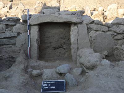 L'ingresso originario della camera funeraria principale – The original entrance of the main burial chamber