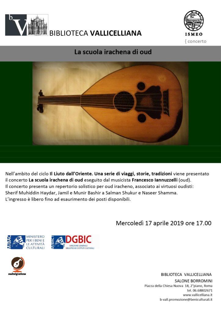 Locandina concerto oud aprile