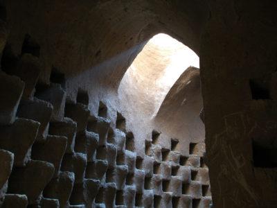 10 Particolare di un corridoio del primo livello.